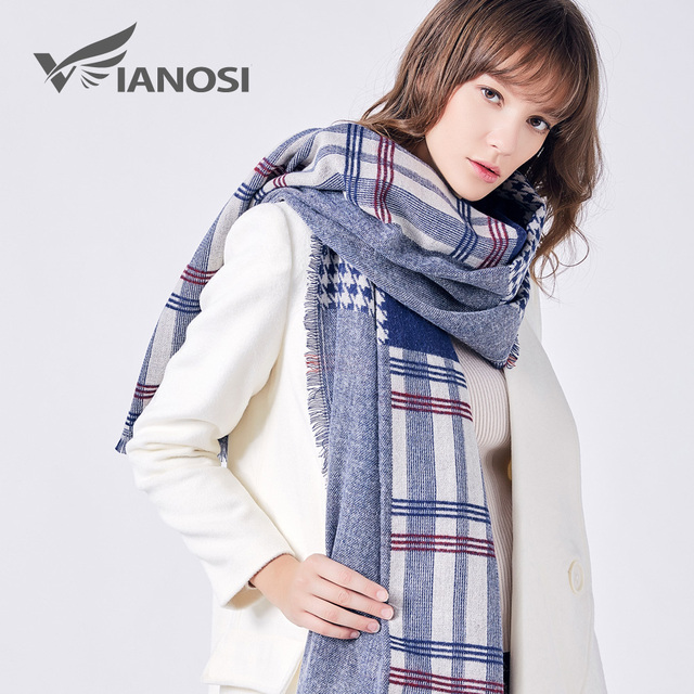 VIANOSI Fashion Winter Scarf Women Foulard Brand Designer Cotton Shawls and Scarves Soft bufandas mujer 2017 VA208