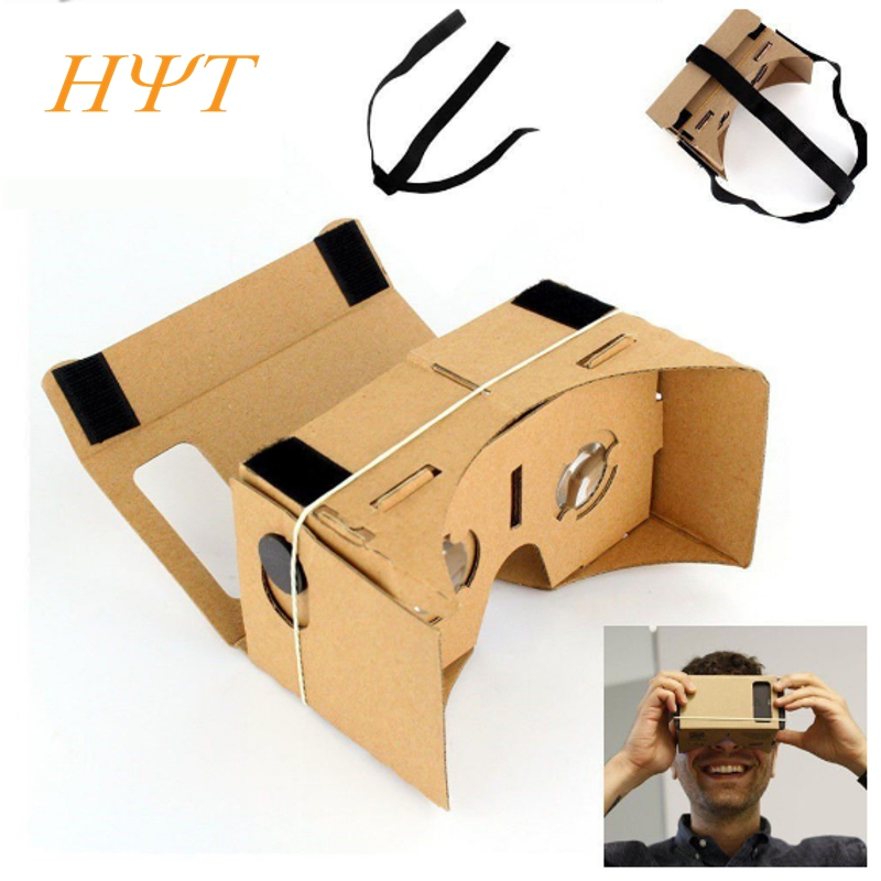 DIY Cardboard Virtual Reality Glasses VR Mobile Phone 3D Viewing Glasses for 5.0
