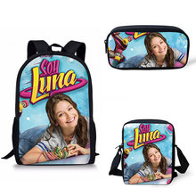 Customized School Bags Soy Luna Pattern Print School Backpack for Girls Boys Orthopedic Schoolbag Backpacks Children Book Bag все цены