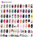 2016 Nail Art Water Stickers, Fashion Flowers Nail Tips Wraps,Full Cover Water Transfer Nail Decals Decoration Tools