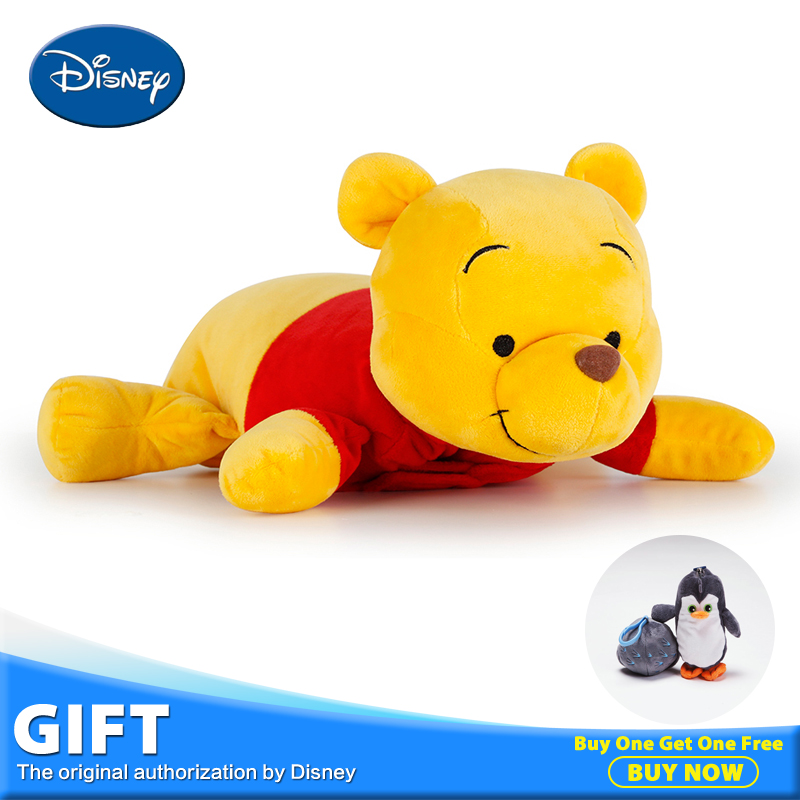 Disney Pooh Bear Stuffed Plush Peluches Toy Doll Children Pillow Cushion With Warm Blanket Multi-function Cartoon Toys Gifts cartoon dog plush pillow shiba inu toys for children gift contain plush flannel blanket bedroom cushion