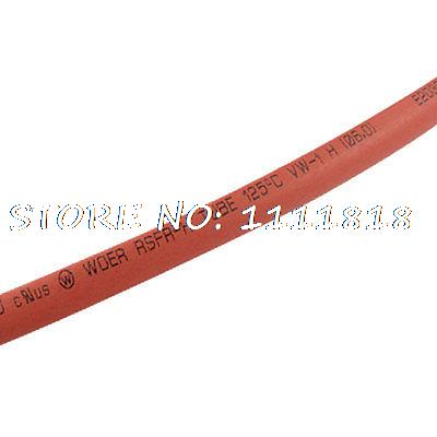 Red Polyolefin 6mm x 100 Meters Heat Shrinkable Shrink Tube retardant heat shrink tubing shrinkable tube diameter cables 120 roll sale