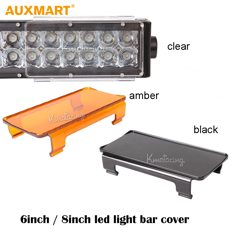 Auxmart 2pcs 6''/8'' Universal Auto Clear/ Amber/Black LED Light Bar Protective Shell Driving Lamp Change Color Protective Cover скотт в айвенго квентин дорвард isbn 978 5 9922 1215 0