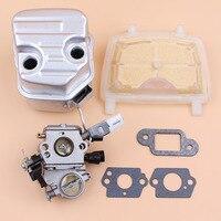 Carburador silenciador filtro de aire de caño de escape Kit para STIHL MS181 MS171 MS 181 171 repuestos de motosierra a gasolina 1139  140  0604 ZAMA C1Q-S269