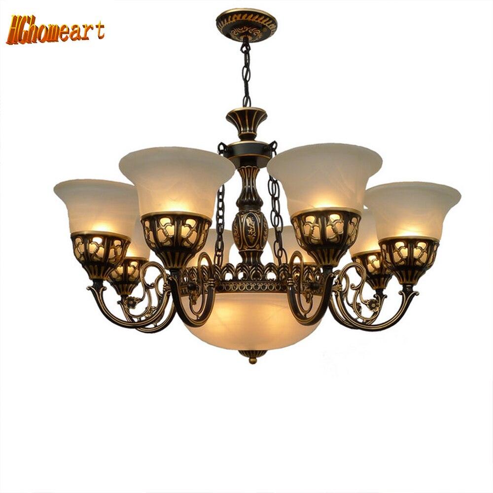 Américain pays pendentif lumière antique lampe simple Européen rétro en fer forgé Lampes Suspendues lampe loft lampe