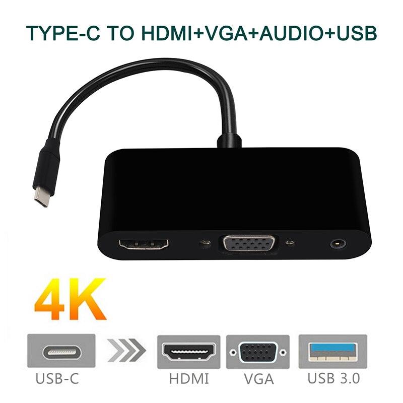 Купить usb type c к hdmi usb 30 зарядный адаптер конвертер концентратор