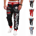 Mens New Baggy Harem Pants Calças Calças Sweatpants Jogger Dança Sportwear Plus Size