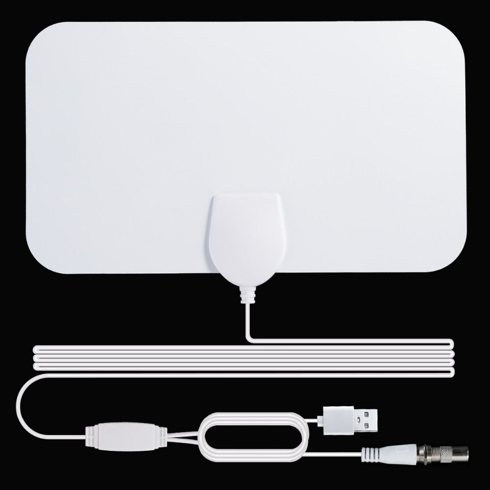 120 Mile Dual Amplified HDTV Antenna Connected Signal Amplifier  Booster  4-meter Coaxial Cable, Digital TV Antenna