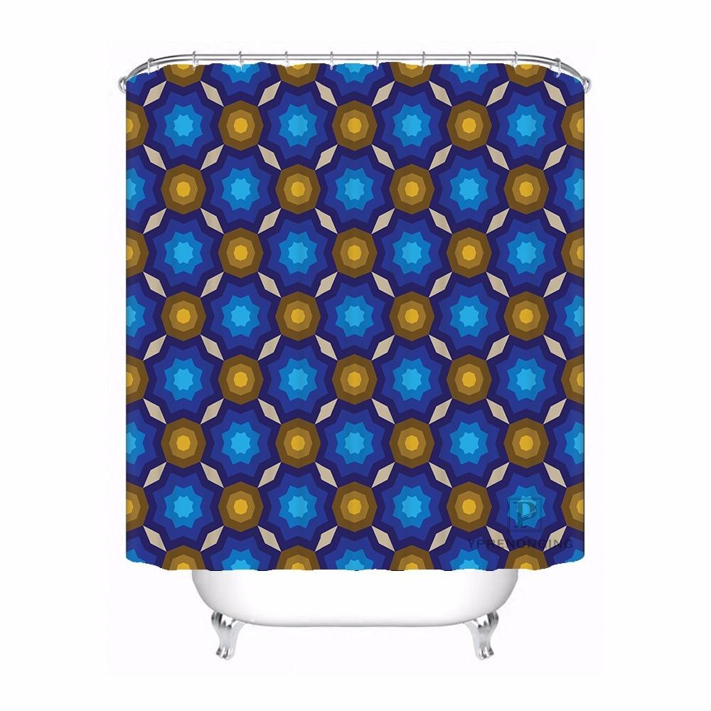 Home Bath Curtain For Bathroom Custom Seamless Vector Pattern Home Decor Shower Curtain Waterproof Fabric Hooks #180417-01-01
