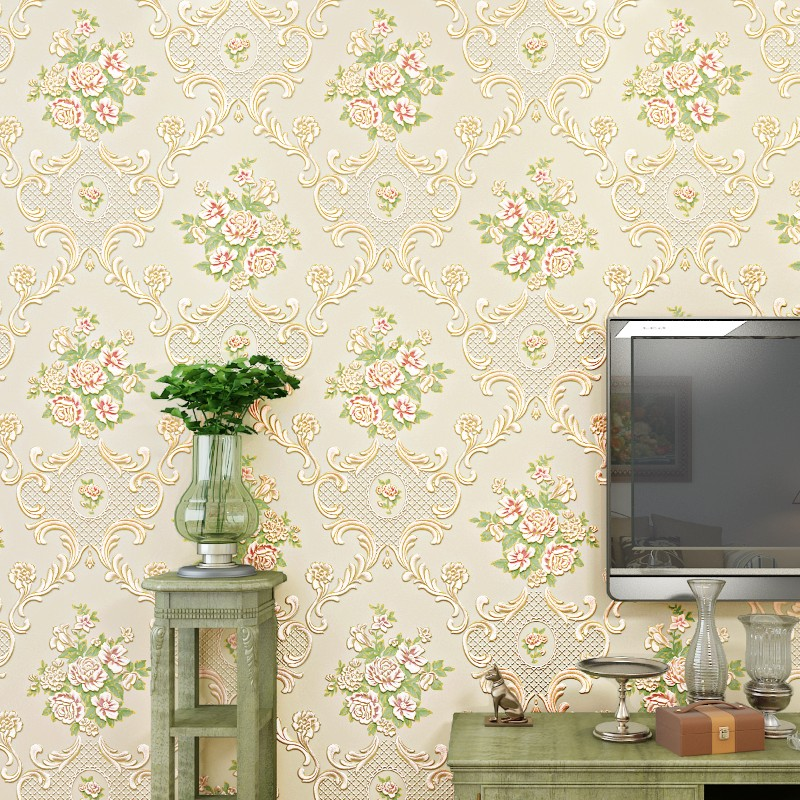 ФОТО beibehang Korean garden flower wallpaper for walls 3 d Wall Covering Paper For Backdrop Textured Wall Papers Home Decor roll