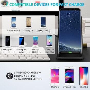 10 W Qi Drahtlose Ladegerät Für IPhone XS Max XR X 8 Für Samsung Hinweis 9 Xiaomi Mix 2 S Schnelle Drahtlose Lade Docking Dock Station