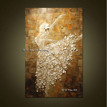 Ballet Dancer Hand Painted Picture Modern Abstract Palette Knife Oil Painting On Canvas Wall Art For Living Room Home Decoration цена
