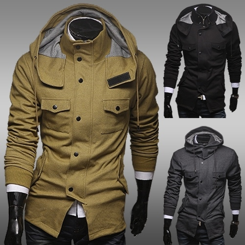 2016 New Real Hooded Cotton Leisure Youth Spring Classic Slim Men's Military Clothing Color Outerwear Male Jacket with A Hood