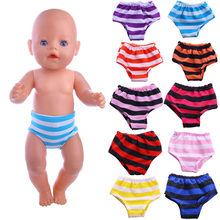 Fleta new 43cm doll or 18inch american doll clothes stripe Underpants for doll toy accessories(China)