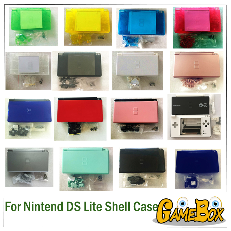32-color game case cover replacement case screen lens for Nintend DS Lite full Housing Case Cover32-color game case cover replacement case screen lens for Nintend DS Lite full Housing Case Cover