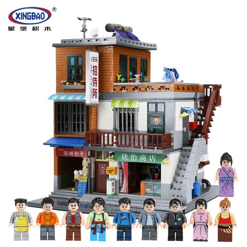 XingBao 01013 Blocos 2706 pcs Genuína Criativo Casa de hóspedes O Conjunto de Blocos de Construção de Brinquedos e armazenar Tijolos Toy Presente Modelo para a Criança