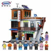 XingBao 01013 bloques 2706 piezas genuino creativo casa de huéspedes los juguetes y tienda Set bloques ladrillos juguete modelo regalo para el niño