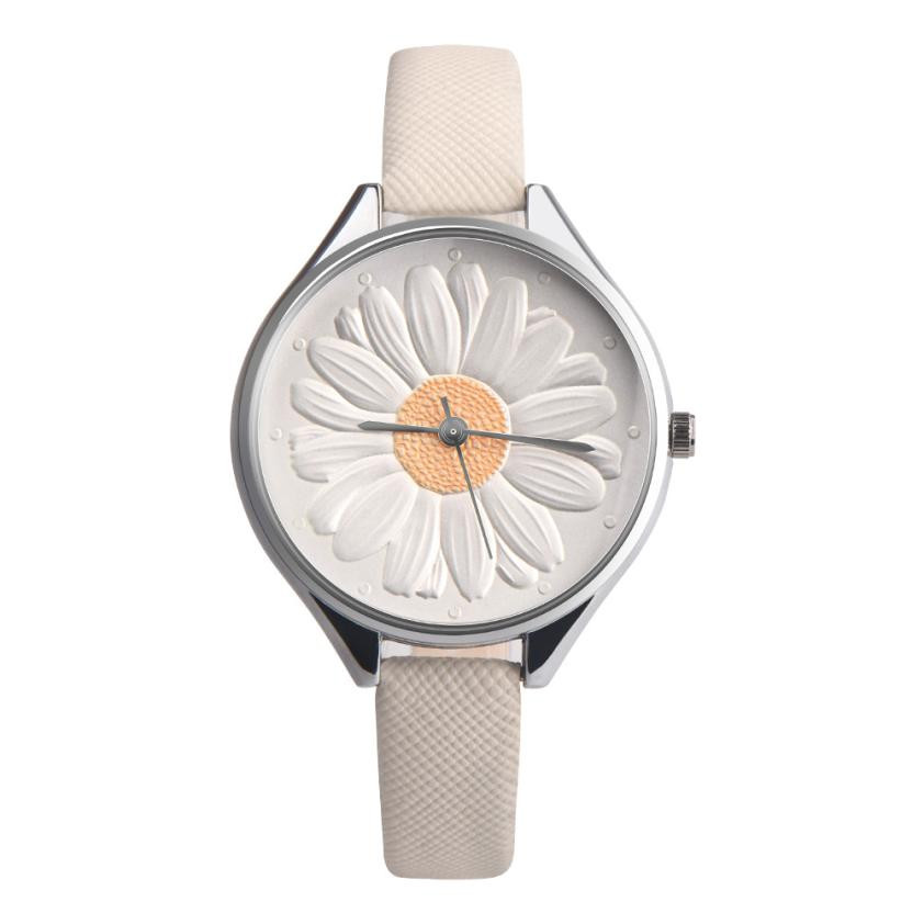 Fashion Women Sunflower Pattern Wrist Watches Ladies Elegant Leather Band Flower Dial Analog Quartz Watch Relogio Feminino #LH new art sketch book diary drawing 80 sheets blank paper notebook school creative trends sketchbook office school supplies gift
