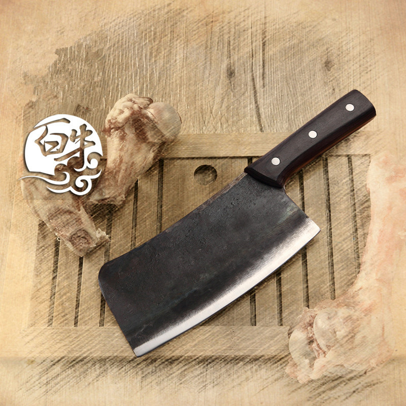 Free Shipping Forged Handmade Carbon Steel Chop Bone font b Knife b font Kitchen Chef Multi