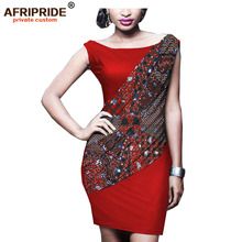 цены 2019 africa spring mini dress for women AFRIPRIDE tailor made ankara print dashiki short sleeve kanga clothing casual A1925012