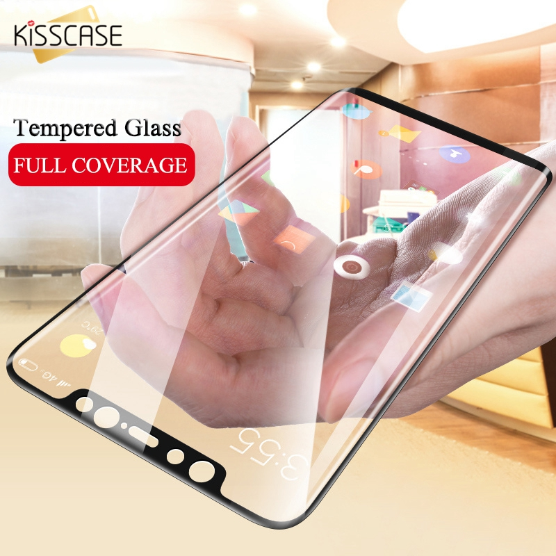 KISSCASE 5D Tempered Glass for Xiaomi Mi 8 A1 A2 Max 3 Pocophone F1 Screen Protector for Redmi 5 Plus 4X Note 5 6 Pro Full Cover