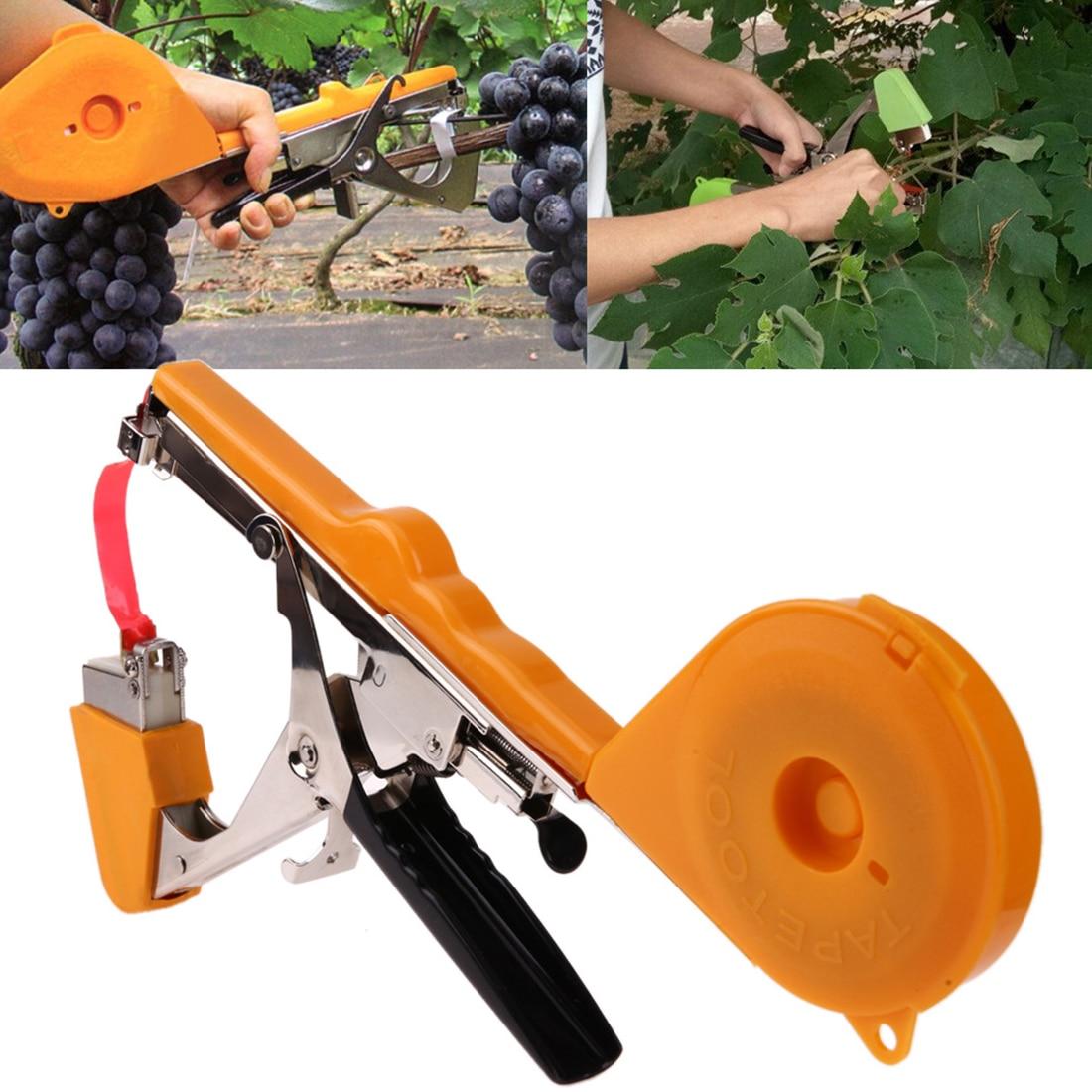 1 pc enclume Machine outils de jardin Tapetool Tapener emballage tige de légume cerclage Cutter raisin lier branche Machine