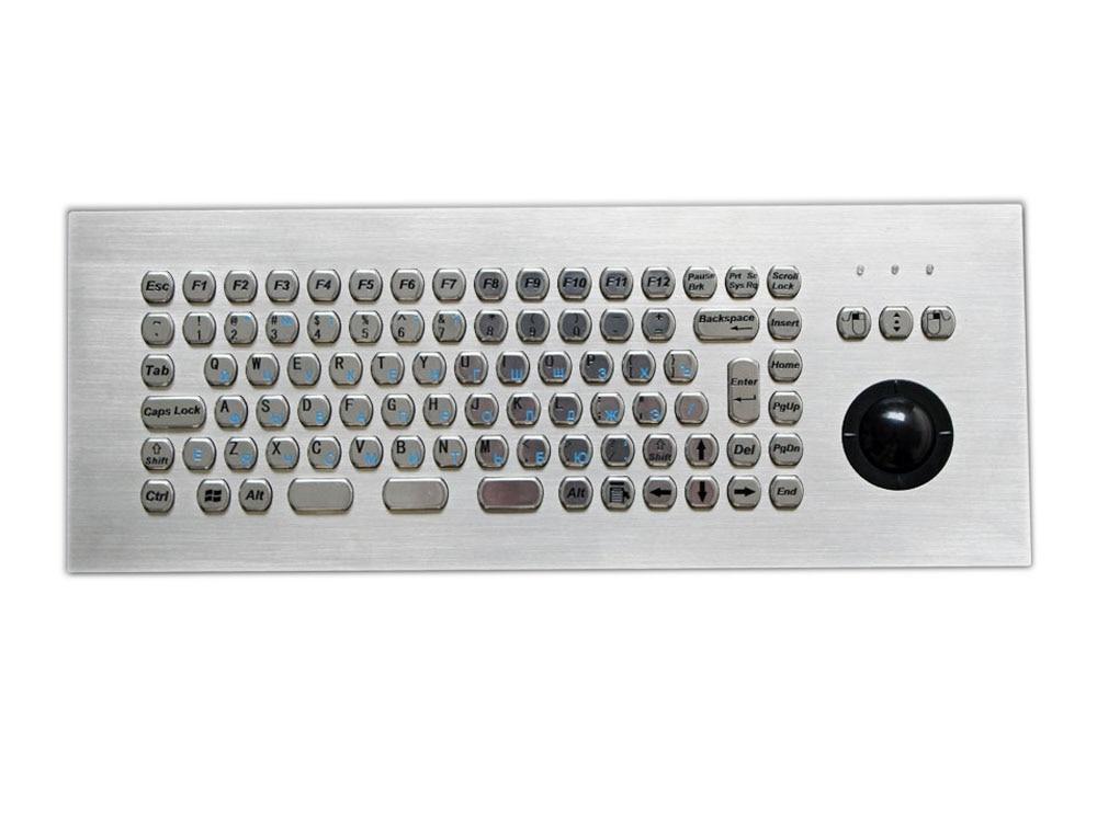 Մետաղական կրպակի ստեղնաշար Trackball - Համակարգչային արտաքին սարքեր - Լուսանկար 1