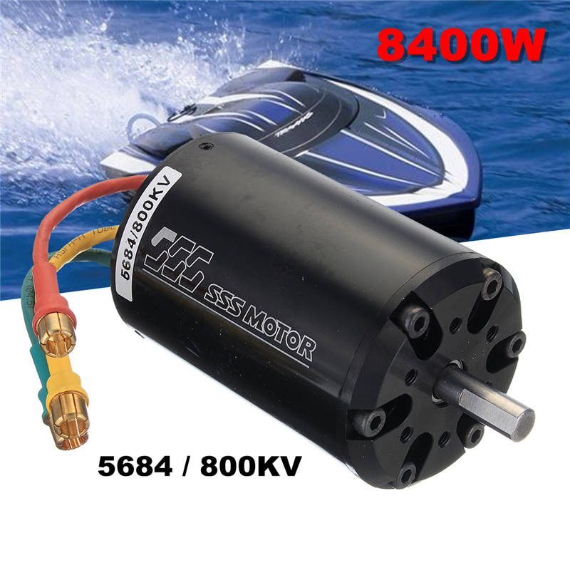 SSS 5684/800KV 8400W Brushless Motor 6 Poles W/O Water Cooling For RC Boats qq sss