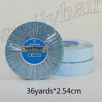 36 yardsx2.54cm супер двустороннее Клеящие средства синий Синтетические волосы на кружеве Поддержка Клейкие ленты length33m для Клейкие ленты для вол...