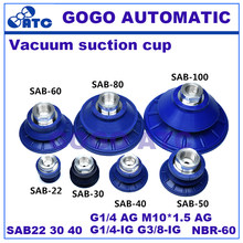Special suction cup for sheet metal SAB22 30 40 mm NBR-60 G1/4 G1/8 AG/IG M10*1.5 AG Pad Robot accessories vacuum Suction cup(China)