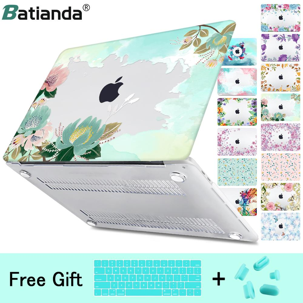 Floral Style Case For Macbook Air 11 12 Pro Retina13 15 Laptop Cover Bag Mac Book 13.3 15