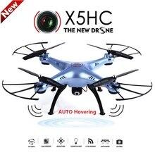 Syma x5hc 4-ch 2.4 ghz 6-axis rc quadcopter con cámara de 2mp hd cámara auto flotando headless modo rc drone syma x5sc actualizado versión