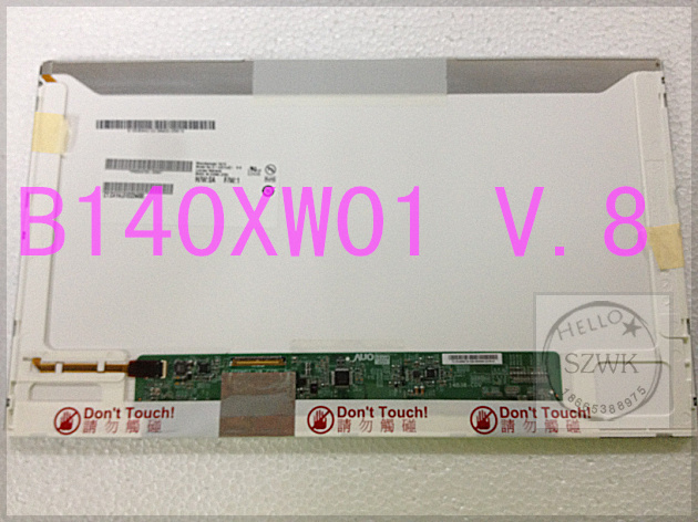 Новый 14.0 - inch из светодиодов ноутбука жк-дисплей - B140XW01 v.8 B140XW01 V.9 N140BGE-L23