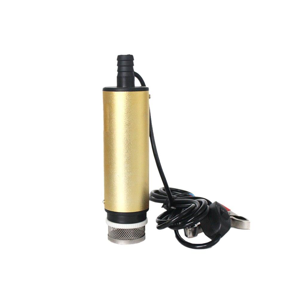12V 24V DC electric submersible pump for pumping diesel oil water,fuel transfer pump,Aluminum alloy shell,30L/min,12 24 V volt