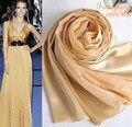 Ацтеков женщин осень мода джерси hijabs100 % сатин золото шарфы и шали Новый стиль шампанское большой размер шелковый пашмины
