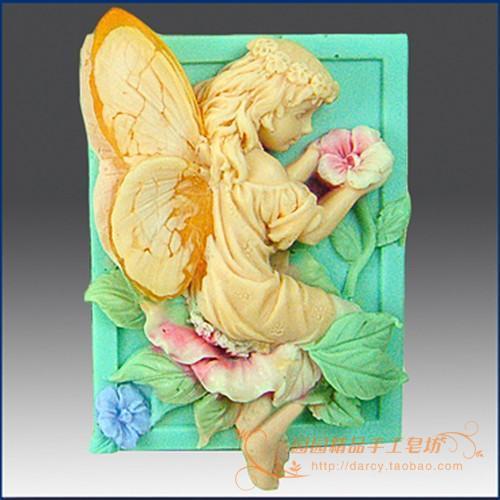 زهرة الطفل lunlun ملاك سيليكون الصابون - الفنون والحرف والخياطة