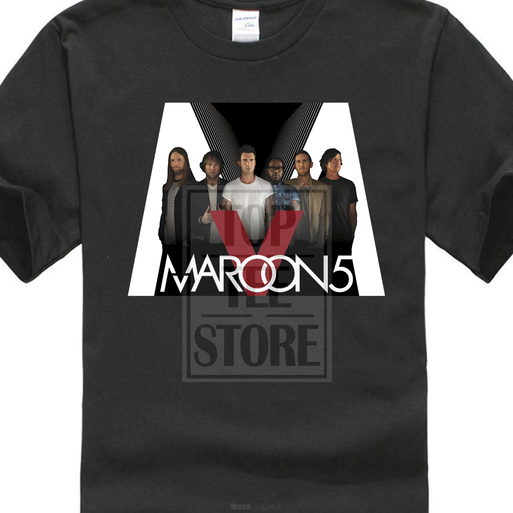 New Popular Maroon 5 Five Pop Rock Band MenS Black T Shirt Size S 3Xl