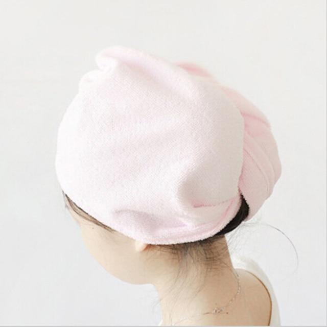 1 pz Delle Donne Dei Capelli di Secchezza del Tovagliolo Magico Telo da bagno Spiaggia Cappello Cap Testa Wrap Rapida Asciugatrice Super Assorbente Telo Da Bagno accessori