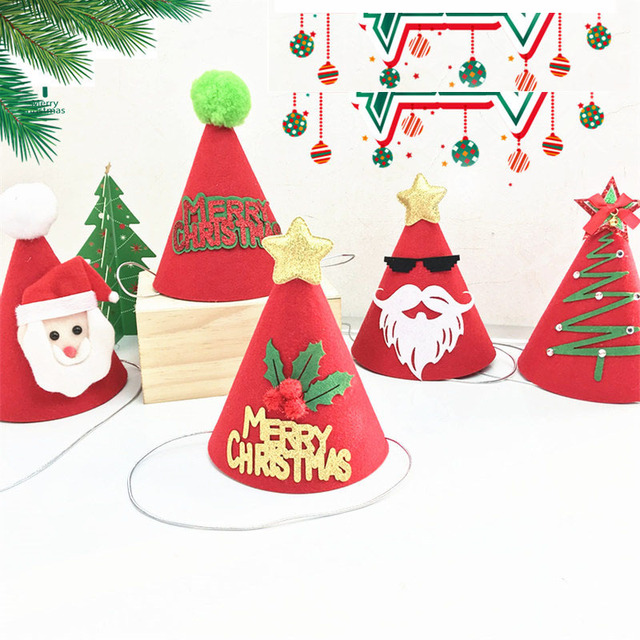 Christmas Hats For Kids.Us 2 8 Christmas Ornaments Decoration Christmas Hats Santa Hats Kids Women Men Boys Girls Three Dimensional Cap For Xmas Party Props In Christmas