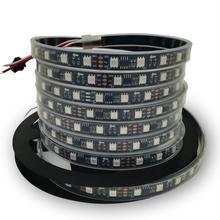 individually addressable 5m waterproof ip67/ip30 5050 rgb 30 60 led/m 12v ws2811 ws2812 ws2812b led strip black/white pcb