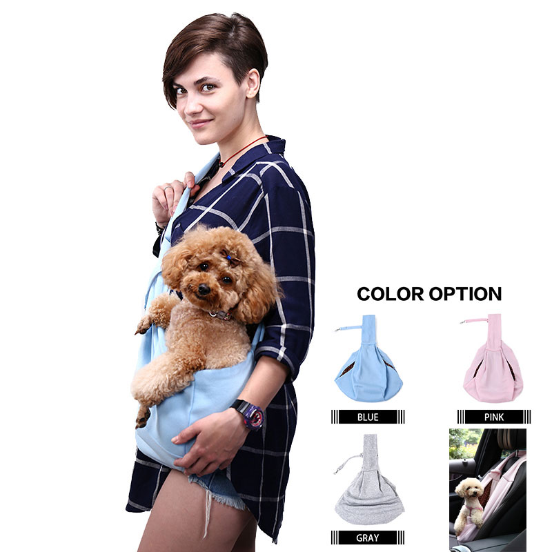 Dog Cat Sling Carrier Bag Hand Pet Puppy Papoose Bag Travel Shoulder Bag Backpack for Small Dog Outdoor Carriers Christmas Gifts