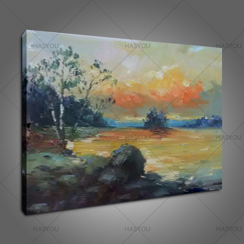 new Design modern Handpainted Oil Painting on Canvas Home Decoration Wall art oil painting Artwork Scenery Pictures for hotel