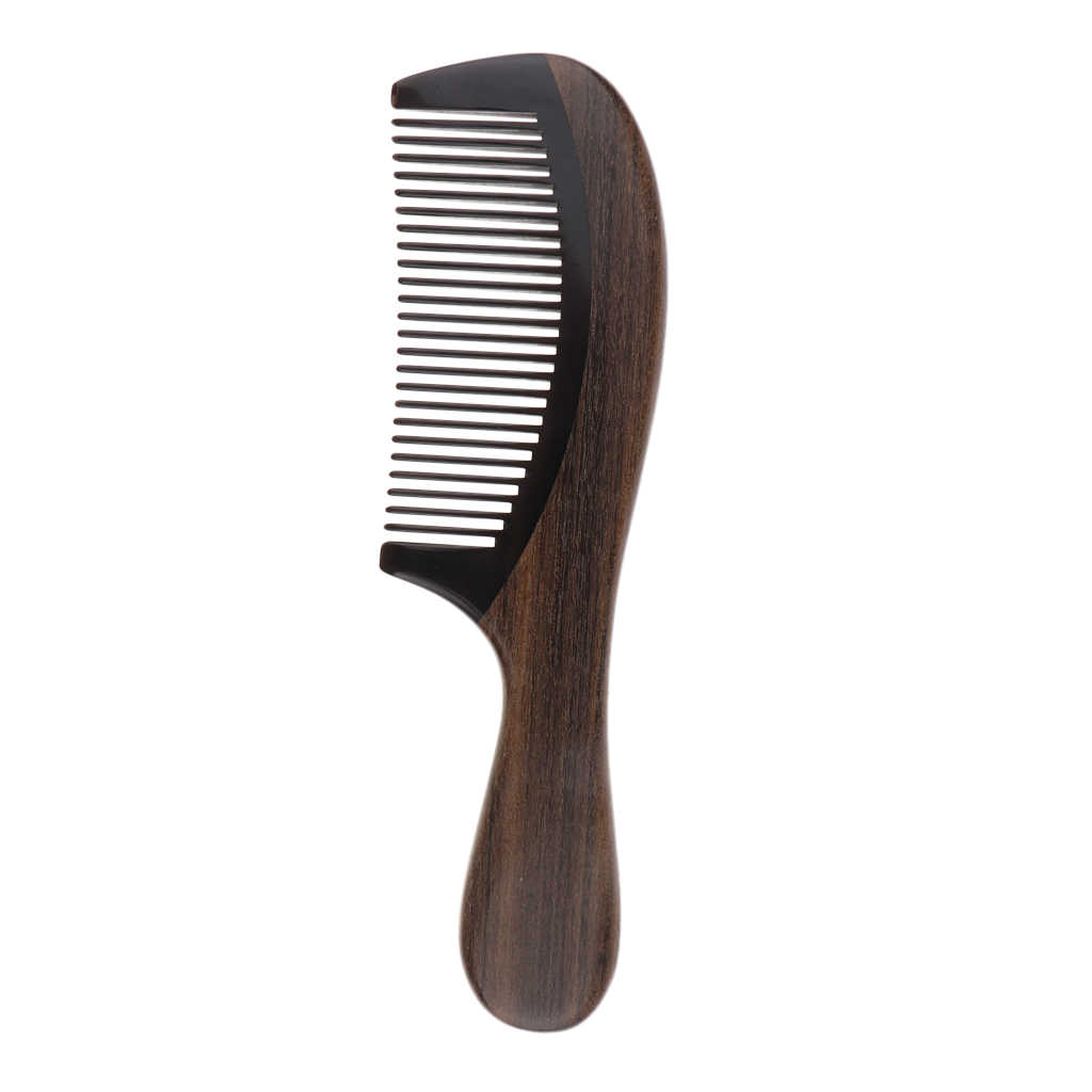 Kuaförlük Saç Bakımı Şekillendirici Combs Kazınmış Ahşap İnce Diş Tarağı sakal tarağı-DOĞAL CHACATE PRETO