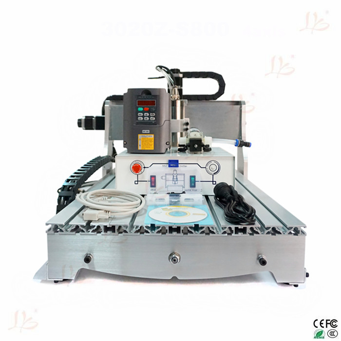 800W mini cnc milling machine cnc 6040, 600X400mm engraving area, mini cnc router eur free tax cnc 6040z frame of engraving and milling machine for diy cnc router