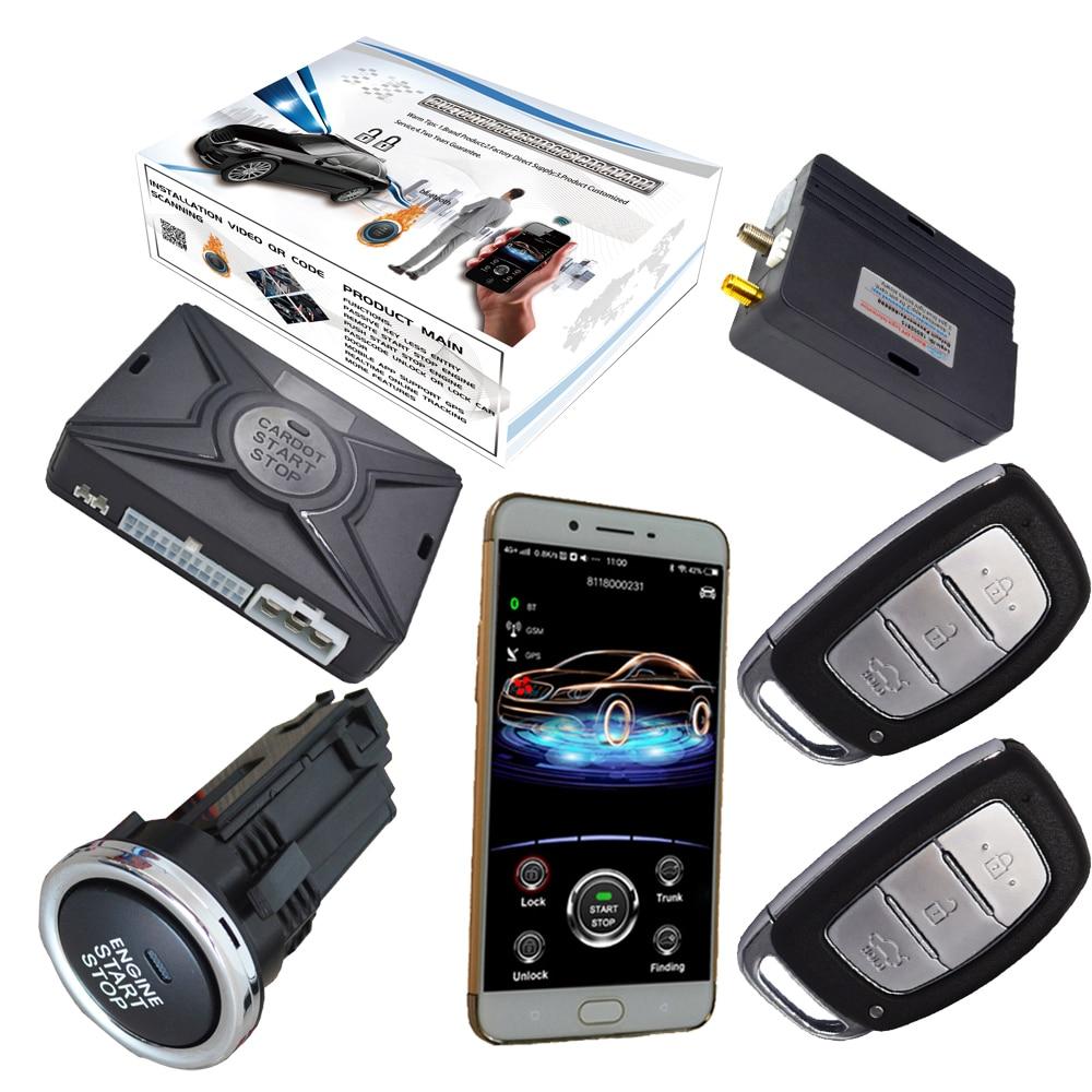 Système d'alarme de voiture cardot remise gps système d'alarme de voiture prenant en charge les mots de passe mobiles IOS et android déverrouillage d'urgence sans clé