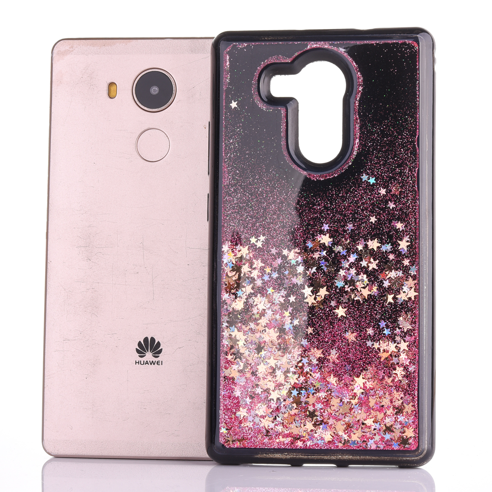 Cellphones & Telecommunications Half-wrapped Case For Huawei Mate 8 Dynamic Liquid Glitter Sand Quicksand Star Soft Tpu Case For Huawei Mate 8 Crystal Black Back Cover