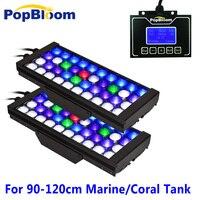 Светодиодный светильник для аквариума Reef 2 шт. контроллер полная лампа полного спектра УФ аквариум с регулируемой яркостью и программируем