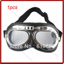 1pcs Motorcycle Scooter ATV Driving Goggles Eyewear Glasses Clear Lens