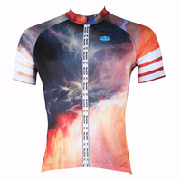New Personas Volcano Short Sleeve Cycling Jersey Red Bike Apparel For Men Breathable Cycling Clothes Size S 6XL