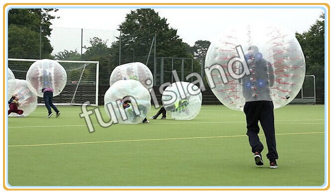 inflatable bubble soccer football shape bubble with printed logo bumperz bubble football